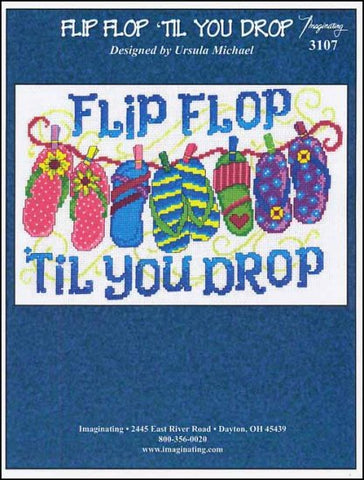 Flip Flop Til You Drop by Imaginating Counted Cross Stitch Pattern