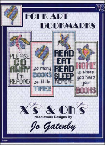Folk Art Bookmarks By X's & Oh's  Counted Cross Stitch Pattern