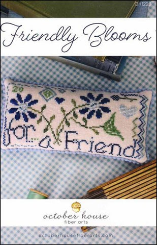Friendly Blooms by October House Counted Cross Stitch Pattern