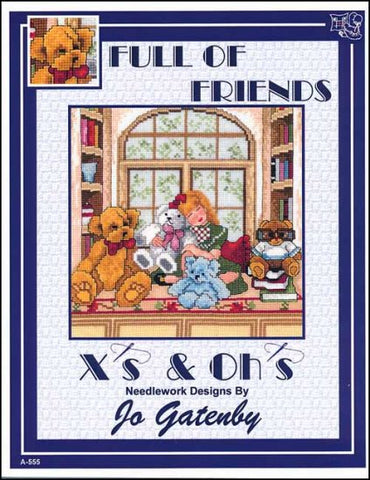 Full Of Friends By X's & Oh's  Counted Cross Stitch Pattern
