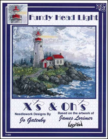 Fundy Head Light By X's & Oh's  Counted Cross Stitch Pattern