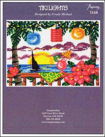 Tiki Lights by Imaginating Counted Cross Stitch Pattern