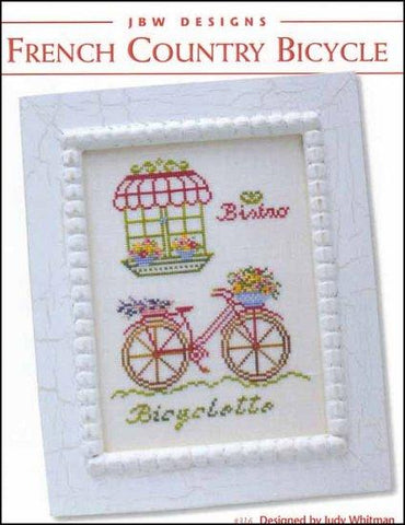 French Country Bicycle by JBW Designs Counted Cross Stitch Pattern