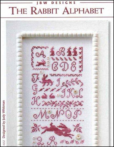 Rabbit Alphabet by JBW Designs Counted Cross Stitch Pattern