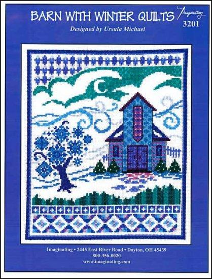 Barn With Winter Quilts by Imaginating Counted Cross Stitch Pattern