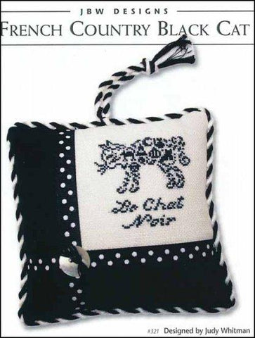 French Country Black Cat by JBW Designs Counted Cross Stitch Pattern
