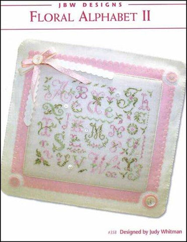 Floral Alphabet 2 by JBW Designs Counted Cross Stitch Pattern