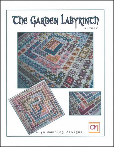 SUMMER Garden Labrynth Cross Stitch Smalls by CM DESIGN Counted Cross Stitch Pattern