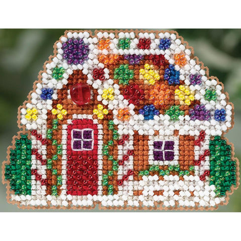 Gingerbread Cottage Ornament Mill Hill Buttons & Beads Counted Cross Stitch Kit 3