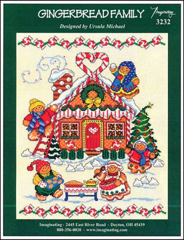 Gingerbread Family by Imaginating Counted Cross Stitch Pattern