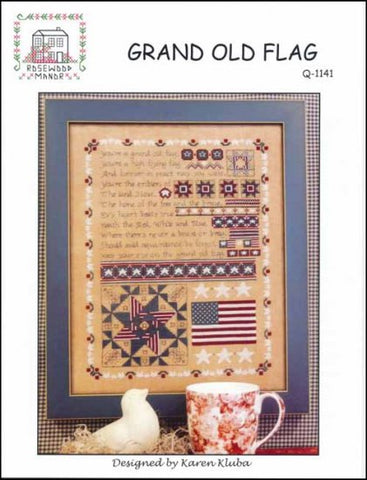 Grand Old Flag by Rosewood Manor Counted Cross Stitch Pattern