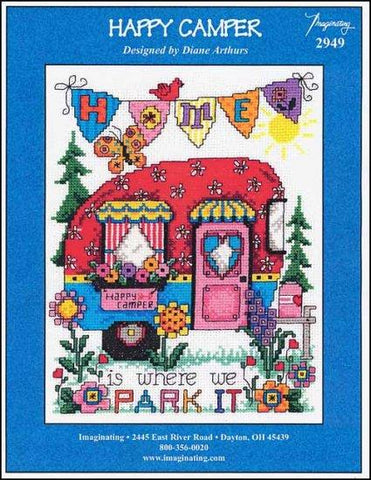 Happy Camper by Imaginating Counted Cross Stitch Pattern