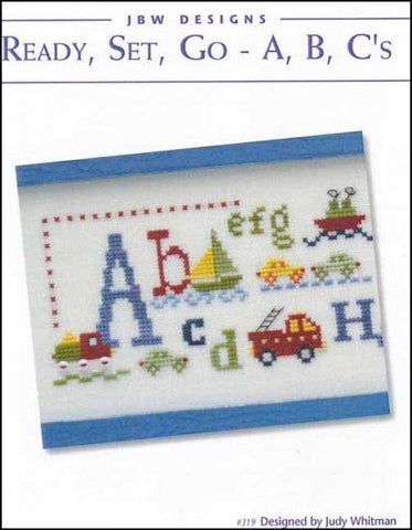 Ready, Set, Go - A,B,C's by JBW Designs Counted Cross Stitch Pattern