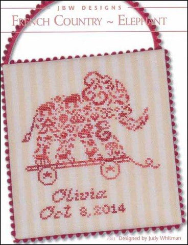 French Country Elephant by JBW Designs Counted Cross Stitch Pattern