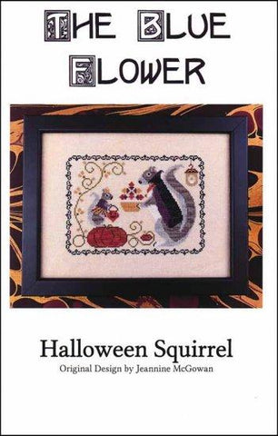 Halloween Squirrel by The Blue Flower Counted Cross Stitch Pattern