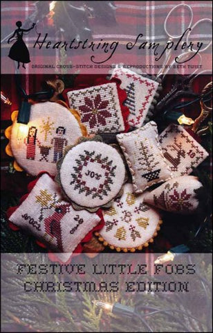 Festive Little Fobs Christmas Edition by Heartstring Samplery Counted Cross Stitch Pattern