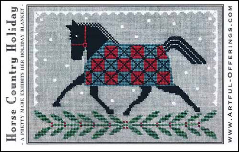Horse Country Holiday by Artful Offerings Counted Cross Stitch Pattern