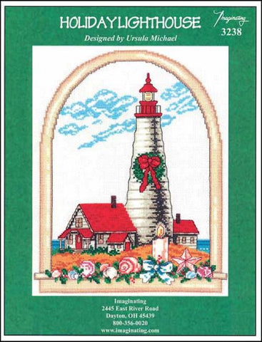 Holiday Lighthouse by Imaginating Counted Cross Stitch Pattern