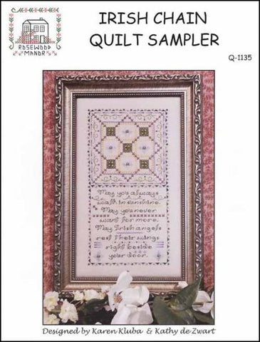 Irish Chain Quilt Sampler  by Rosewood Manor Counted Cross Stitch Pattern