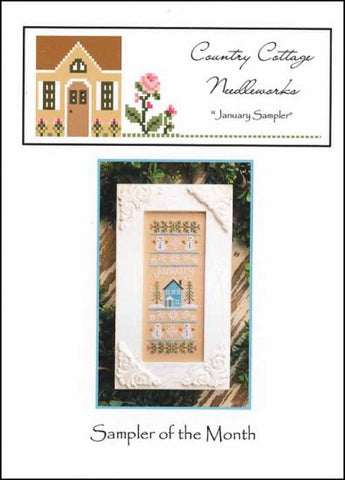 January Sampler by COUNTRY COTTAGE NEEDLEWORK Counted Cross Stitch Pattern