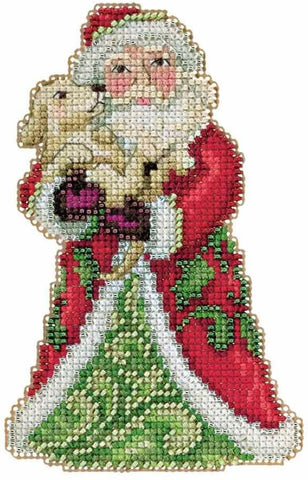 Best Friend Santa Claus by Jim Shore Counted Cross Stitch Kit -Mill Hill