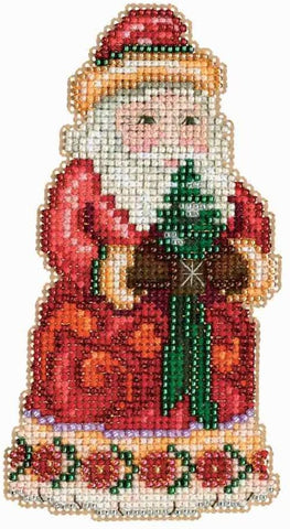 Christmas Cheer Santa by Jim Shore Counted Cross Stitch Kit -Mill Hill