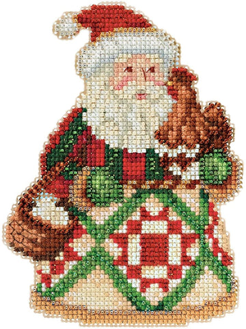 Early Morning Santa Claus by Jim Shore Counted Cross Stitch Kit -Mill Hill