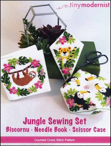 Jungle Sewing Set By The Tiny Modernist Counted Cross Stitch Pattern
