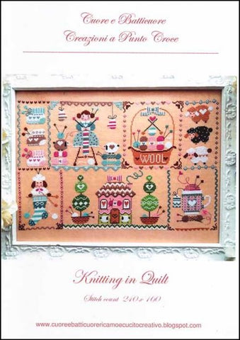Knitting in Quilt by Cuore e Batticuore Counted Cross Stitch Pattern