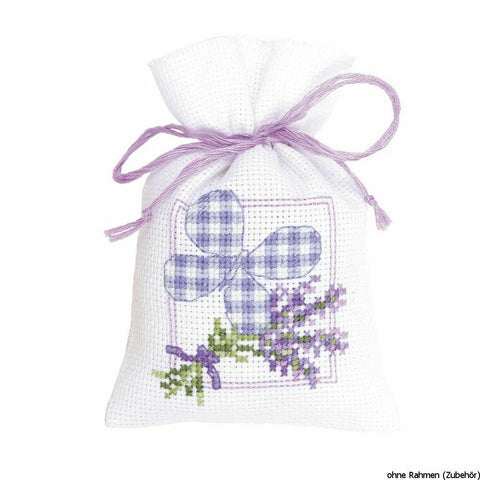 Lavender Butterfly Sachet by Vervaco 1 Sachet Bag Counted Cross Stitch Kit