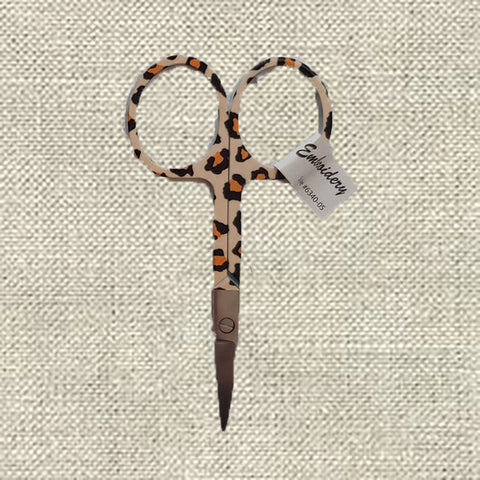 BOHIN ANIMAL PRINT EMBROIDERY SCISSORS-Leopard