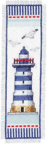 Seagull Lighthouse Bookmark by Vervaco Counted Cross Stitch Kit 2.5