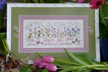 Love Is By Shepherd's Bush Printworks Counted Cross Stitch Pattern