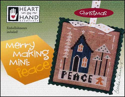 Merry Making Mini: Peace by Heart in Hand Counted Cross Stitch Pattern