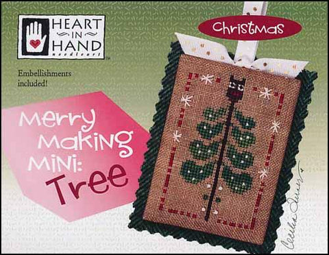 Merry Making Mini: Tree by Heart in Hand Counted Cross Stitch Pattern