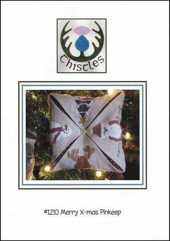 Merry X-mas Pinkeep by Thistles Counted Cross Stitch Pattern