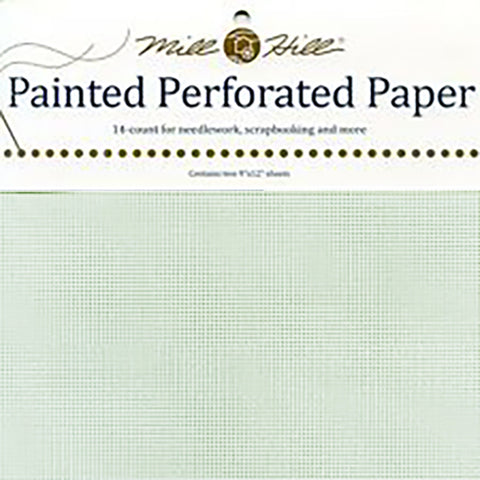 MISTY LIME MILL HILL PERFORATED PAPER Two 9