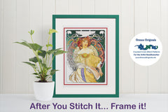 La Trapistine by Alphonse Mucha Counted Cross Stitch Pattern