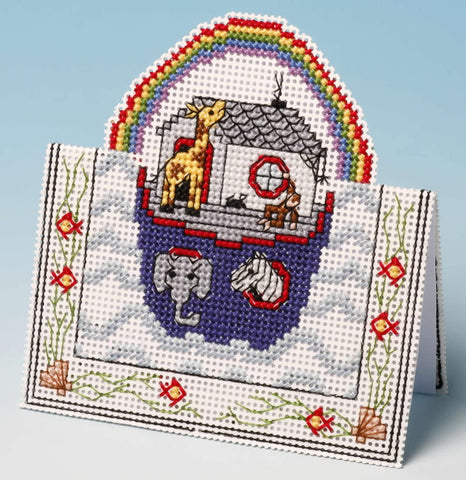 Noah's Ark Card 3-D Greeting Card Counted Cross Stitch Kit