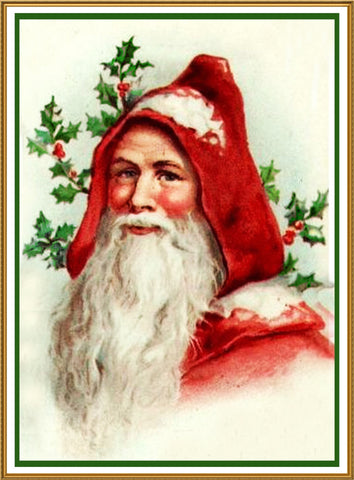 Father Christmas Santa Claus 80 Holiday Counted Cross Stitch Pattern DIGITAL DOWNLOAD