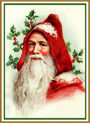 Father Christmas Santa Claus 80 Holiday Counted Cross Stitch or Counted Needlepoint Pattern