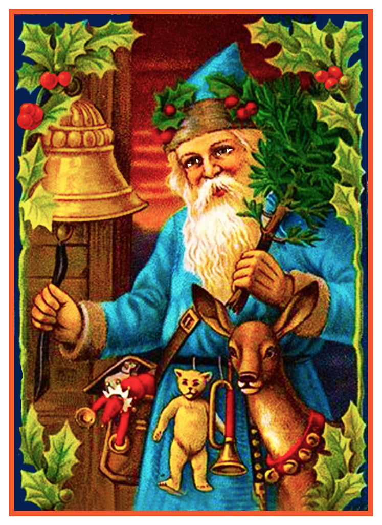 Father Christmas Santa Claus 84 Holiday Counted Cross Stitch or Counted Needlepoint Pattern