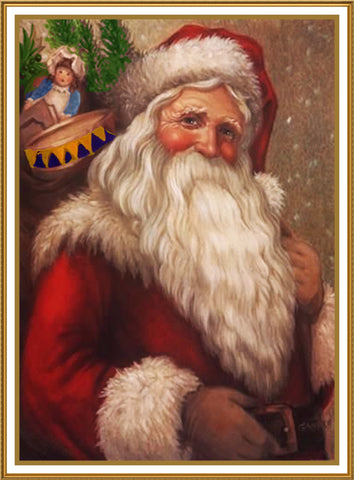 Father Christmas Santa Claus 89 Holiday Counted Cross Stitch Pattern DIGITAL DOWNLOAD