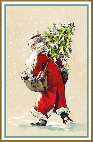 Orenco Originals Father Christmas Santa Claus 95 Holiday Counted Cross Stitch Pattern