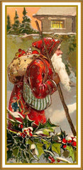 Father Christmas Santa Claus 83 Holiday Counted Cross Stitch or Counted Needlepoint Pattern