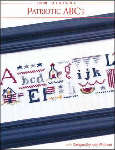 Patriotic ABC's by JBW Designs Counted Cross Stitch Pattern