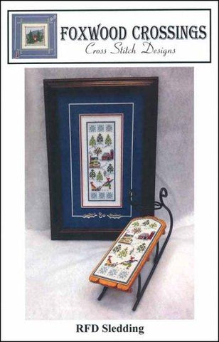 RFD Sledding by Foxwood Crossings Counted Cross Stitch Pattern