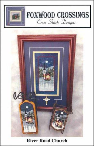 River Road Church by Foxwood Crossings Counted Cross Stitch Pattern