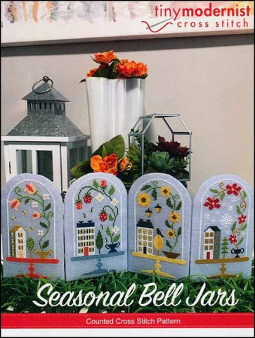 Seasonal Bell Jars By The Tiny Modernist Counted Cross Stitch Pattern
