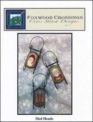 Sled Heads by Foxwood Crossings Counted Cross Stitch Pattern